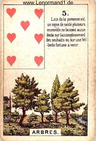 Baum, antikes Petit Jeu de la Madame Lenormand