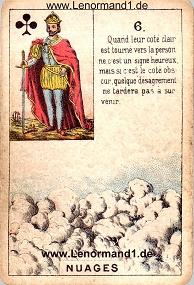 Wolken, antikes Petit Jeu de la Madame Lenormand