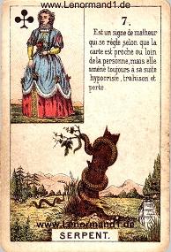 Schlange, antikes Petit Jeu de la Madame Lenormand