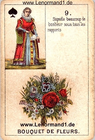 Blumen, antikes Petit Jeu de la Madame Lenormand