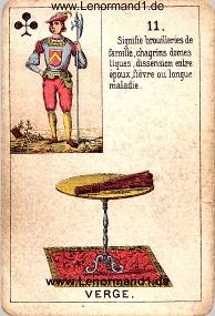 Ruten, antikes Petit Jeu de la Madame Lenormand