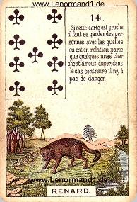 Fuchs, antikes Petit Jeu de la Madame Lenormand