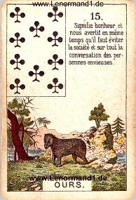 Bär, antikes Petit Jeu de la Madame Lenormand
