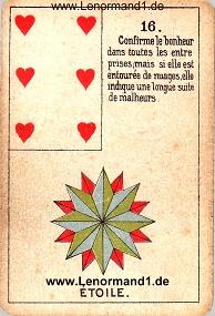 Sterne, antikes Petit Jeu de la Madame Lenormand