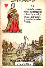 Storch, antikes Petit Jeu de la Madame Lenormand