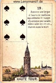 Turm, antikes Petit Jeu de la Madame Lenormand