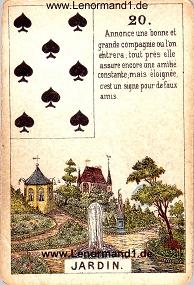Park, antikes Petit Jeu de la Madame Lenormand
