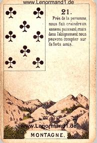 Berg, antikes Petit Jeu de la Madame Lenormand