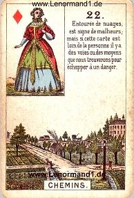 Wege, antikes Petit Jeu de la Madame Lenormand
