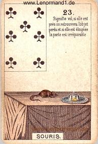 Mäuse, antikes Petit Jeu de la Madame Lenormand