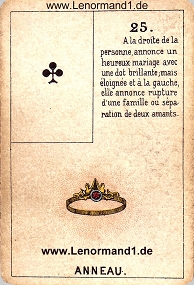 Ring, antikes Petit Jeu de la Madame Lenormand