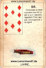 Buch, antikes Petit Jeu de la Madame Lenormand