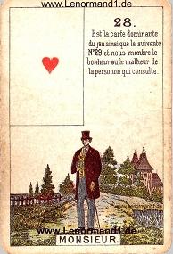 Herr, antikes Petit Jeu de la Madame Lenormand