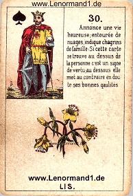 Lilie, antikes Petit Jeu de la Madame Lenormand
