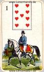 Der Reiter antike Lenormandkarten der vereinigten Stralsunder Spielkartenfabriken AG