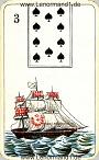 Das Schiff antike Lenormandkarten der vereinigten Stralsunder Spielkartenfabriken AG