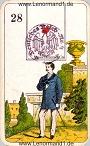 Der Herr antike Lenormandkarten der vereinigten Stralsunder Spielkartenfabriken AG