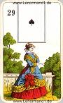 Die Dame antike Lenormandkarten der vereinigten Stralsunder Spielkartenfabriken AG