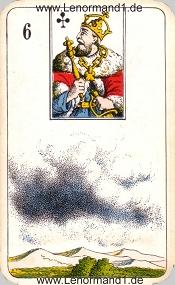 Wolken, antikes Stralsunder Lenormand