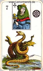 Schlange, antikes Stralsunder Lenormand