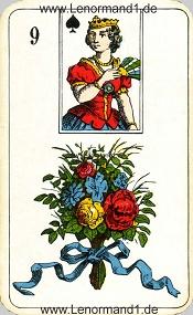 Blumen, antikes Stralsunder Lenormand