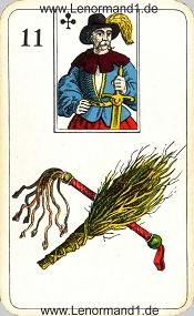 Ruten, antikes Stralsunder Lenormand
