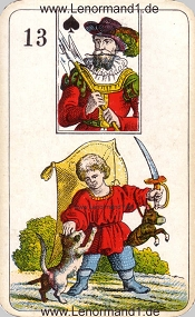 Kind, antikes Stralsunder Lenormand