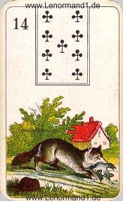 Fuchs, antikes Stralsunder Lenormand