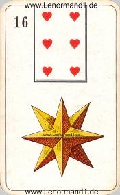 Sterne, antikes Stralsunder Lenormand