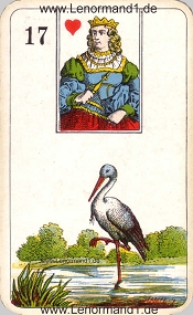 Storch, antikes Stralsunder Lenormand