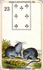 Mäuse, antikes Stralsunder Lenormand