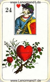 Herz, antikes Stralsunder Lenormand