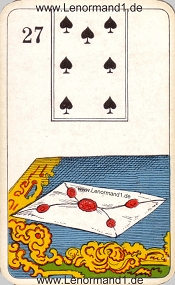 Brief, antikes Stralsunder Lenormand