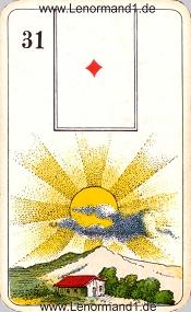 Sonne, antikes Stralsunder Lenormand