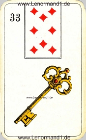 Schlüssel, antikes Stralsunder Lenormand