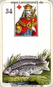 Fische, antikes Stralsunder Lenormand