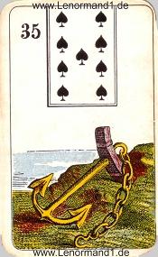 Anker, antikes Stralsunder Lenormand