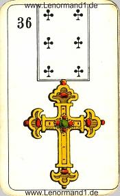 Kreuz, antikes Stralsunder Lenormand