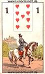 Der Reiter antike Lenormandkarten von C.L. Wüst