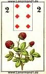 Der Klee antike Lenormandkarten von C.L. Wüst