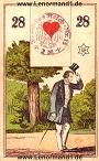 Der Herr antike Lenormandkarten von C.L. Wüst
