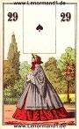 Die Dame antike Lenormandkarten von C.L. Wüst