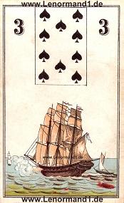 Schiff, antikes Wüst Lenormand