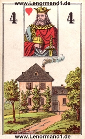 Haus, antikes Wüst Lenormand