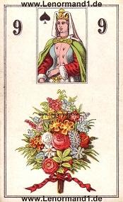 Blumen, antikes Wüst Lenormand