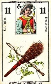 Ruten, antikes Wüst Lenormand