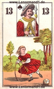Kind, antikes Wüst Lenormand
