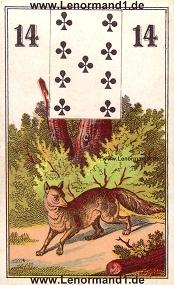 Fuchs, antikes Wüst Lenormand