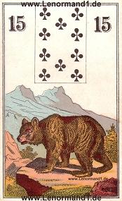 Bär, antikes Wüst Lenormand