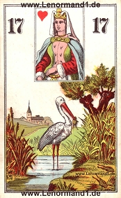 Storch, antikes Wüst Lenormand